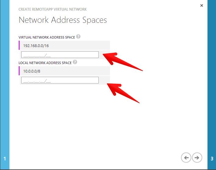 remote app network address space
