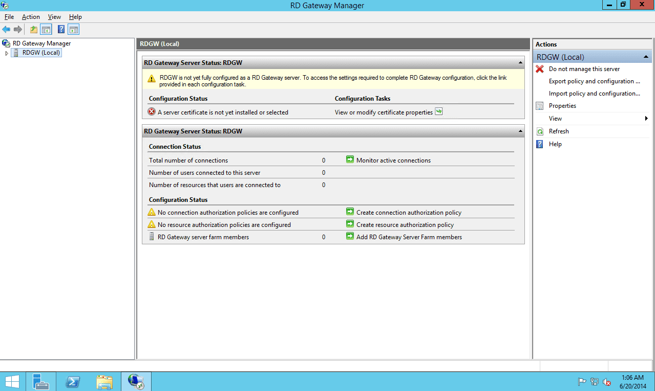 Remote desktop gateway on the windows server 2012 r2 rd gateway is not configured lets start with the ssl certificate xflitez Gallery