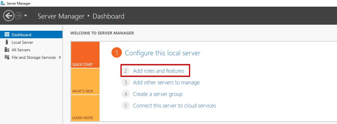 Installing Remote Desktop Services 2016