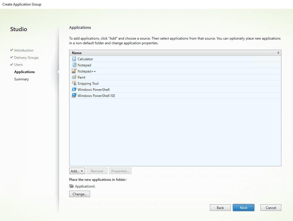 Citrix XenApp installation - Applications