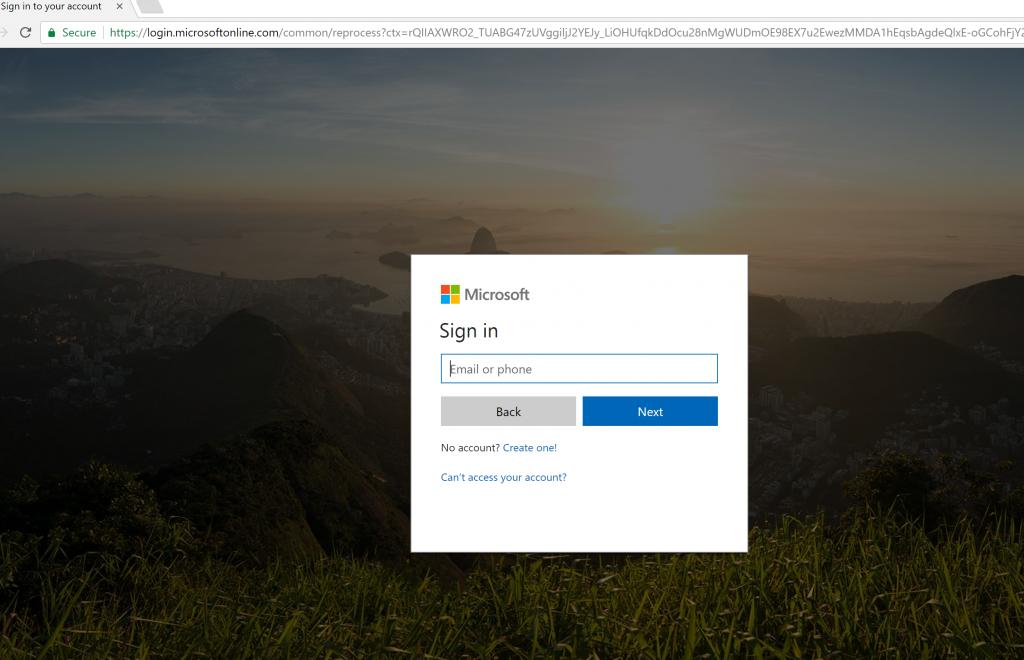 Office 365 ログイン
